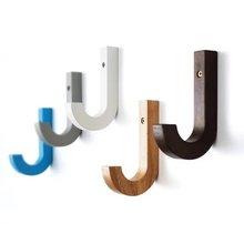 Solid Wood Coat Hook Decorative Wall White Blue Grey Black Walnut Colorful Modern Hangers Bag Bathroom