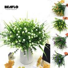 1 букет поддельных маленьких цветочных головок DIY Гипсофилы искусственный цветок ребенок дыхание свадебное украшение дома