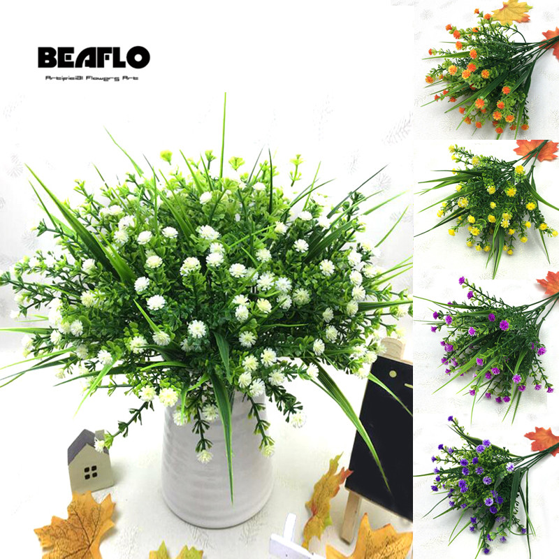 1 Bouquet Gefälschte Wenig Blumen Köpfe Diy Gypsophila Simulation Künstliche Gefälschte Blume Baby Atem Hochzeit Hause Dekoration Diversifizierte Neueste Designs