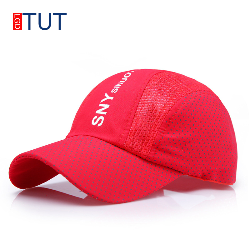 New Summer Breathable Sport Baseball Cap For Men Women 2018 Fashion Casual Letter Printing Adjustable Hats Snapback Hat LGDTUT