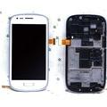 Para samsung galaxy s3 mini i8190 lcd screen display touch com digitador assembléia + moldura do quadro, branco Frete grátis!!!