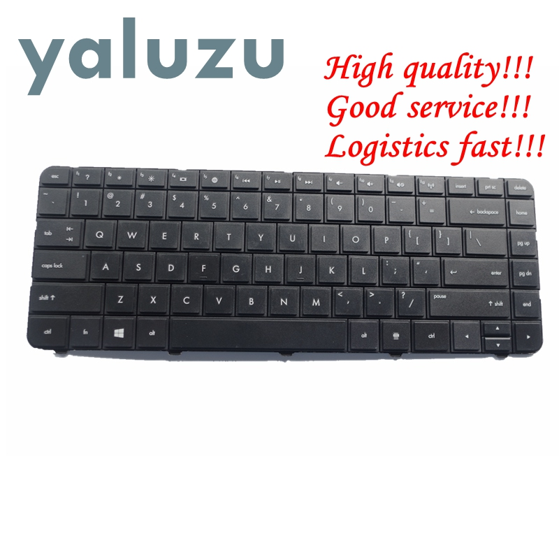 YALUZU English US Black Keyboard For HP 636376-001 636376-B31 636376-B31 645893-001