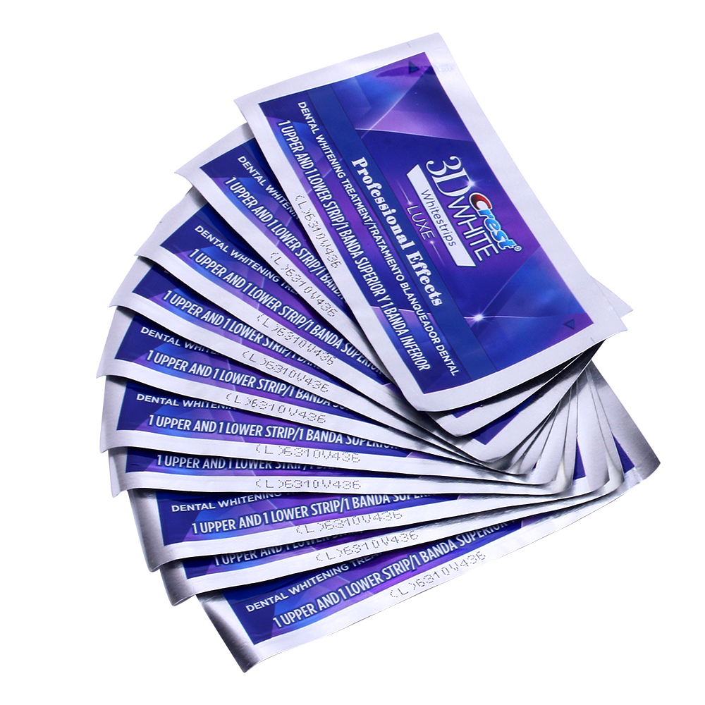 5 Pouch/10 Strips Crest 3D White Whitestrips LUXE Original Professional Effects Teeth Whitening Strips Tooth Bleaching Gel 2