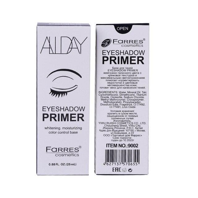 FaRRES brand eyeshadow primer gel waterproof Whitening moisturizing base cream easy to wear eye makeup face primer AM037 1
