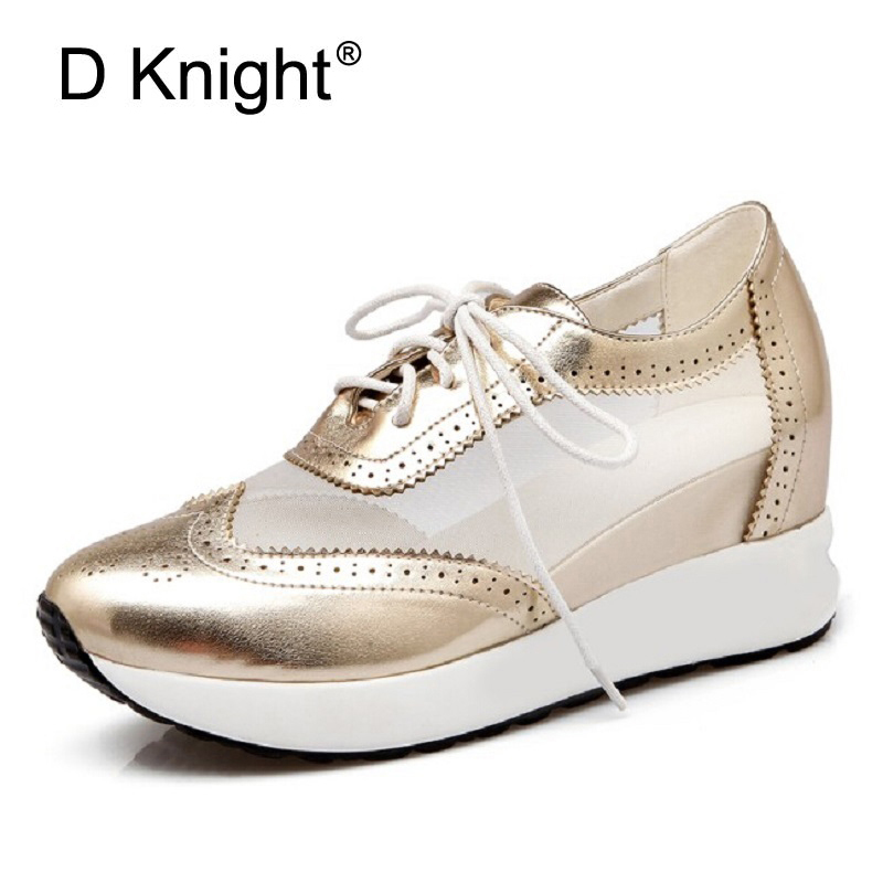 New Women Wedge Hidden Heels Ankle Shoes For Women Lace Up Platform Heels Spring Autumn Summer Casual Shoes Woman Big Size 31-42 siemens wt 45 h 200 oe