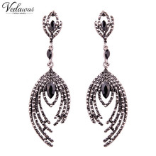 Vedawas 2017 New Party Long Pendant Earrings Crystal Dangle Earring for Party Fashion Earring for Women Wholesale 1507
