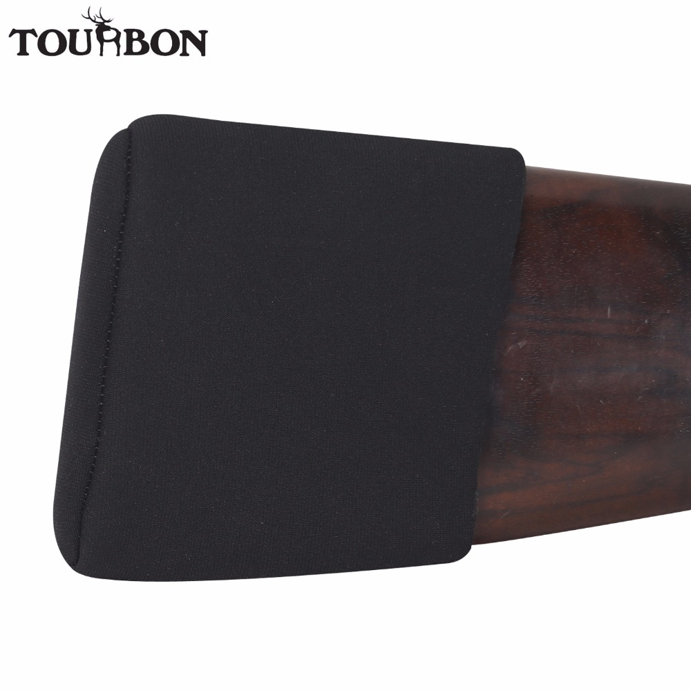 Tourbon Hunting Gun Accessories Recoil Pad Non-slip Adjustable Rifle Shotgun Buttstock Protector Neoprene w/3Pads Adjusted tourbon tactical rifle gun sling with swivels shotgun carrying shoulder strap black genuine leather belt length adjustable