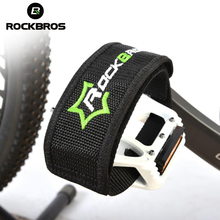 цена на ROCKBROS Bike Bicycle Pedals Cover Ultralight Cycling MTB Pedals Belt Bike Platform Foot Straps Anti-slip Fixed Gear Beam Strap