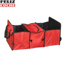 Car Trunk Storage Bag Oxford Cloth Folding Truck Storage Box Car Trunk Tidy Bag Organizer Storage Box With Cooler Bag A6001