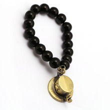 One Piece Luffy Chopper Straw Hat Black Onyx Beads Bracelets