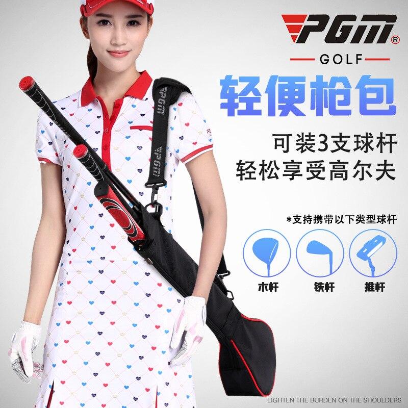 New! PGM Golf Gun Bag Folding Women Handbag Can Hold 3 Clubs A4729