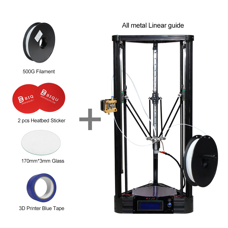 BIQU Diy 3d Metal Printer Pulley Guide Rail Large Printing Size 3d-Printer Delta 3d Printer Kit Full Self-assembly BIQU-Kossel original anycubic 3d pinter kit kossel pulley heat power big size 3d printing metal printer fast shipping from moscow