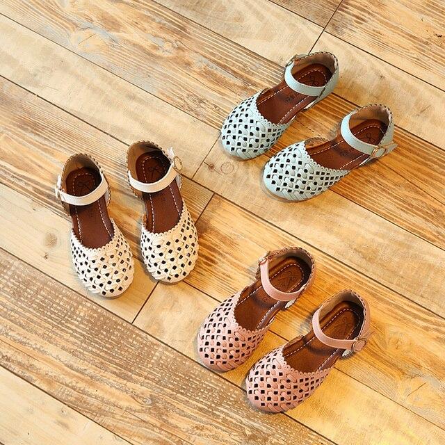 Девушки сандалии обувь для девочек партии малышей принцесса дети свадьба обуви дети кожаные лето размер 23-35 для 2 ~ 15 год мода KK23