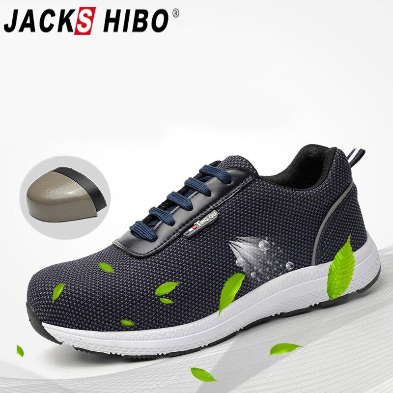 Kreativ Jackshibo Männer Sicherheit Arbeit Schuhe Stahl Kappe Sicherheit Stiefel Plus Größe Männer Feste Punktion Beweis Stiefel Atmungsaktive Schutz Schuhe Home
