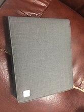 Kaco حقيبة أقلام القلم كيس حقيبة رمادي اللون نمط الأعمال 20 جيوب القلم ل Penbbs Hongdian مون مان ديليك مكتب اللوازم المدرسية