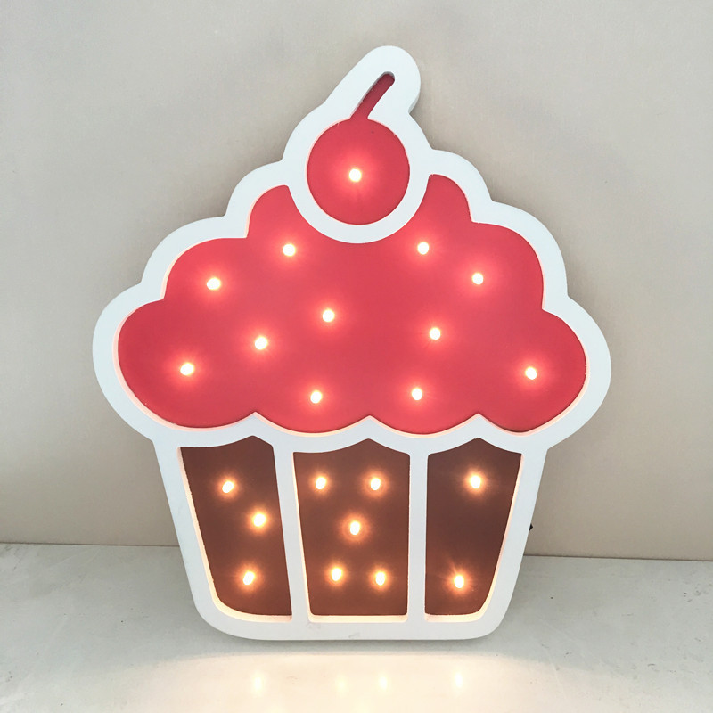 Ice cream birthday Kids wall Lamp Luminaria De Mesa 3d Led Lamp Novelty Kids Room Light Luminarias De Interior Wall Light novelty night light baymax big hero 3w luminaria white green red color lava lamp for children bedroom decorate luminaria de mesa