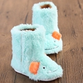 Baby White Infant Toddler Shoes Outdoor Boots Princess Baby Girls New Sweet Winter Newborn Baby Booties Bow Keep Warm Prewalker