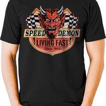 4e88776df Speed Demon Living Fast Devil Hot Rod T Shirt Vintage Retro Mens Tall T  Shirts 100