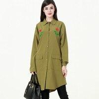 Embroidery Shirt Blouses Floral Blouse Woman 2019 Autumn Office Lady Women's Blouses Long Plus Size 4XL 3XL Shirts CM345