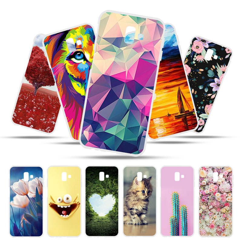 For Samsung J4 J6 Plus 2018 Cases Silicon Painted Cover Housing For Samsung Galaxy A7 A8 2018 S7 Edge A20E A30 J5 2017 Cover