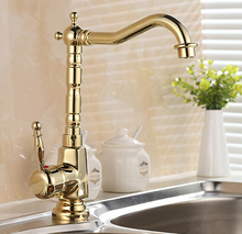 New Arrivals European Retro Style and Gold Surface Kitchen Faucet Bathroom Basin Faucet By Brass Sink Faucet Water Mixer Tap