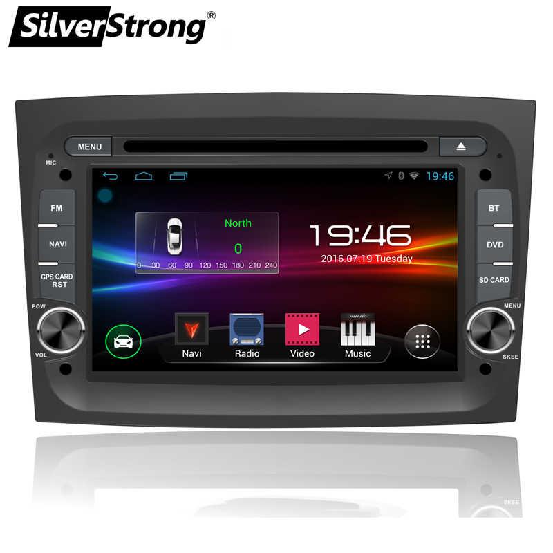 SilverStrong QuadCore Android9.0 DVD del coche para Fiat Doblo 2015 2016 GPS Radio navegación opcional TPMS DVR DAB