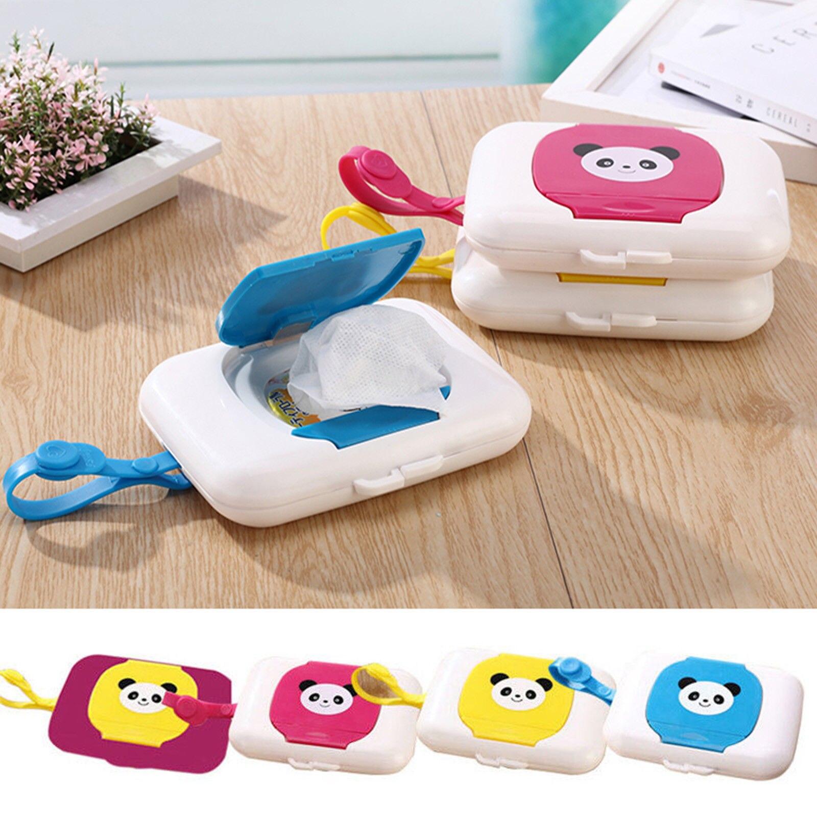 Cartoon Animals Print Baby Travel Wipe Case Child Wet Wipes Box Changing Dispenser Storage Holder Tissue Boxes Hot Sale