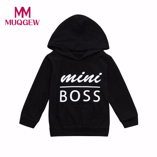 MUQGEW Spring Autumn Toddler Baby Boys Sweater 2019 Fashion For Boy Hooded Sweatshirts Infant Letter Blouse Hoodies Tops