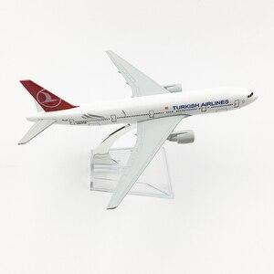 Image 3 - トルコ航空Boeing777 20センチメートル飛行機モデルトルコ16センチメートルB777飛行機モデルオリジナルモデルA350ダイキャスト飛行機モデルのおもちゃ飛行機