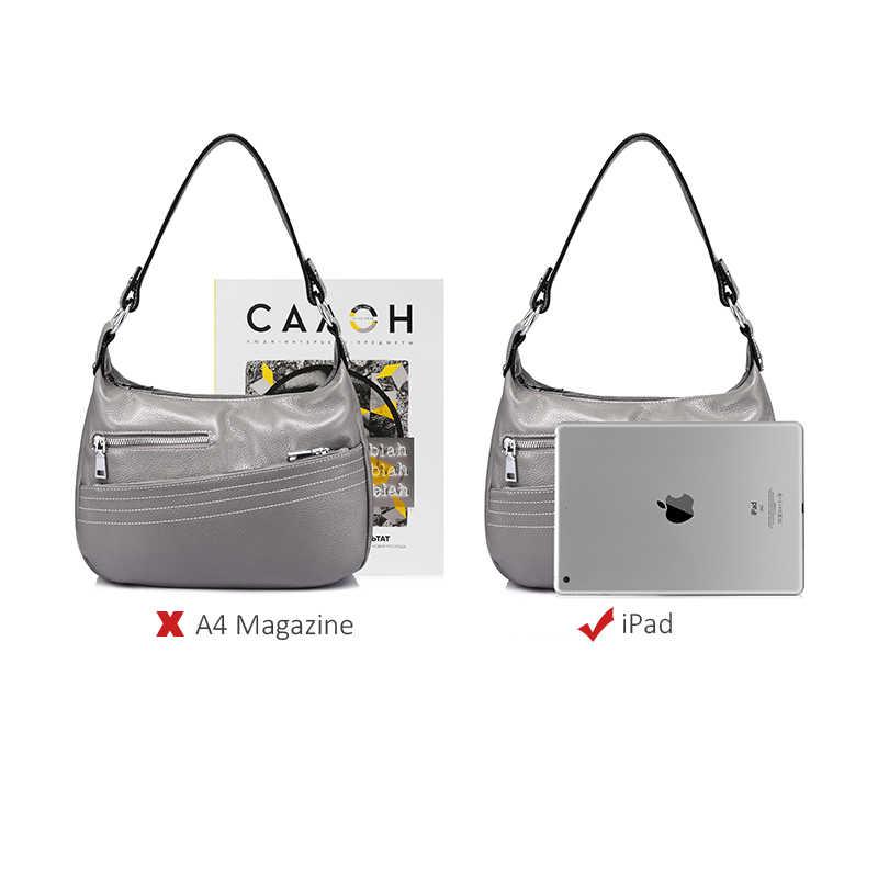 REALER женская сумка на плечо из натуральной кожи, сумка через плечо для женщин, модная сумка женская кросс-боди с цепью и большой ёмкостью