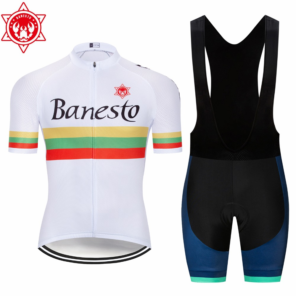 2018 Team Banesto Pro Cycling Jersey Short Sleeve Cycling Clothing  Breathable Mountain Bike Clothes Quick Dry Bicycle SportswearUSD 23.46 set 90c068dd5