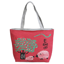 Mode Cartoon Schafe Design frauen Top griff Handtasche Robustem Canvas Tragbare Handtasche Casual Einkaufstaschen Handtasche