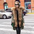 High-end 2016 Winter New Two-piece Down Jacket Super Large Raccoon Fur Women's Thicken Down Coats Parkas Snow Outerwear YR45