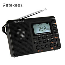 Retekess V-115 New FM/AM/SW Radio Multiband Portable Radio Receiver REC Recorder Bass Sound MP3 Player Speakers with Sleep Timer(China)