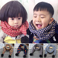 Hot 2017 New Autumn Winter scarf in children baby girls Boys Cotton Warm Neck Circle Dots Pashmina Scarves Warm Scarves RZ071