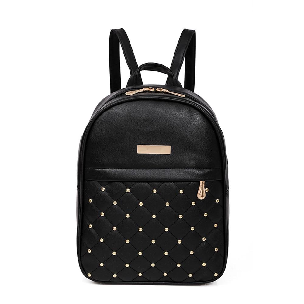 OCARDIAN Woman packet Fashion Causal Bags Bead Female Shoulder Bag Backpacks Women Rivet Backpack dropship 19M12