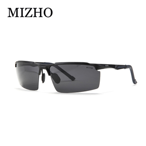 MIZHO Brand 21g Ultra-light Aluminium oculos de sol masculino 3Color Semi-Rimless Sunglasses Men Polarized UV Protection