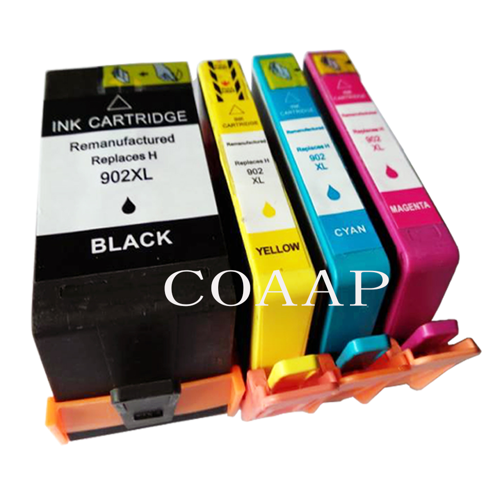GYBN Ready-to-use Large-Capacity Color 905XL Ink Cartridge for HP 6960 6970 6950 Printer OfficeJet pro Large-Capacity Ink cartridge-4-set pro6960 6950 Ink Cartridge 6970 for HP 905 Ink Cartridge