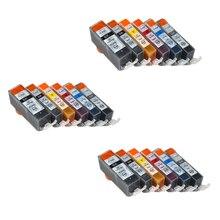 18 шт Совместимость PGI 525 CLI 526 чернильный картридж для Canon PIXMA IP4850 IX6550 MG5150 MG5250 MX885 MX895 принтеры PGI525 CLI526