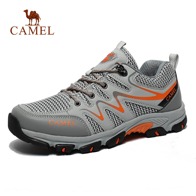 CAMEL Men Women Outdoor Mesh Hiking Shoes Breathable Non slip Durable Travel Hiking Trekking Trail Shoes