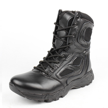 2016 Men's  Boots Military Tactical Boots Outdoor Working  Motorcycle Work Shoes Spring Autumn Army Hiking Ankle Boots