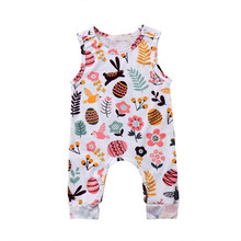 7dfbc8d5d79 Baby Rompers 2018 New Fashion Toddler Infant Kid Baby Girl Sleeveless Romper  Jumpsuit Playsuit Easter Egg Bunny Costume 0-18M