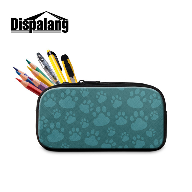 Dispalang Kids Pencil Bag Cat Paw Print Pen Case Zipper Pencil Case