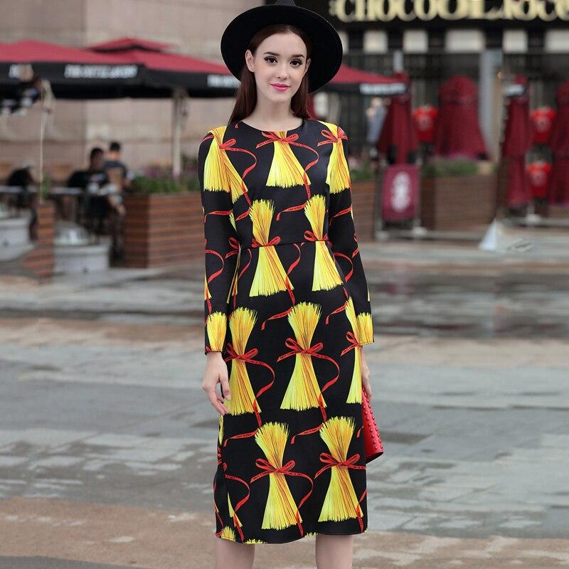 Droites Plus De Slim 4xl Summer Européenne Dress Robes Taille New Vintage Haute Femmes Qualité Imprimé 2017 La Robe Numérique wx4qfAXZ