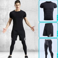 Men's Sports Suits fitness clothing Training wear Yoga Sets Compression Suits Track&field sportwear jumpers sets gymwear workout