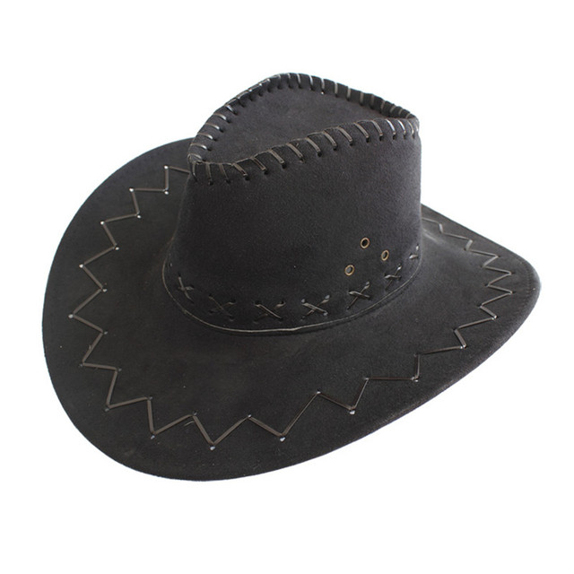 0ae16bc69738a1 Children Kids Jazz Bull Rider Suede Cowboy Cowgirl Western Montana Travel  Summer Hat Sunhat (One Size :54cm)