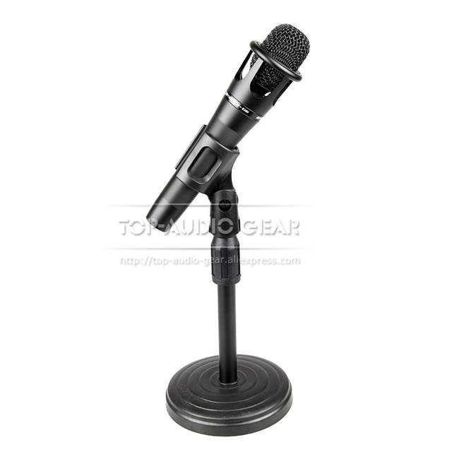 Peachy Us 17 0 Free Shipping Round Base Desktop Mic Stand Table Desk Top Microphone Stand Boom Clip Holder Mount Clamp Clasp Adjustable Height In Mic Stand Interior Design Ideas Clesiryabchikinfo