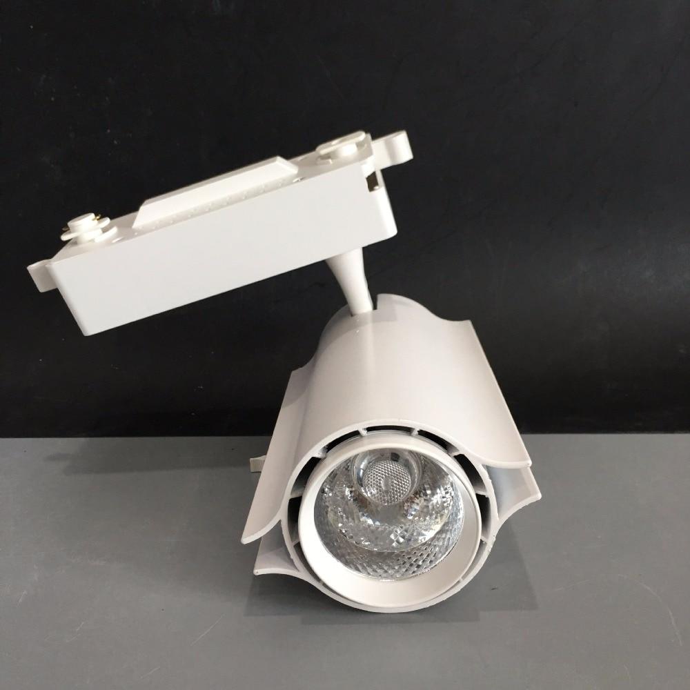 Velkoobchod Maloobchod 30 W COB LED Track Light Spot Nástěnná lampa Spotlight Tracking LED AC110V / 240V Noverty light 8pcs / lot