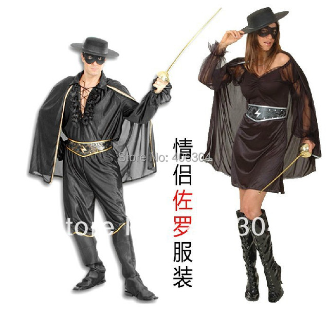 free party dress up adult black zorro costumes
