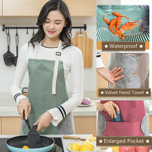 Kitchen Bib Apron with 2 Big Pockets Adult Bibs Half Apron with Handtowel Waterproof  Women Aprons Adjustable Apron Linen Apron my apron